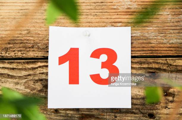 number 13 - bad luck stock pictures, royalty-free photos & images