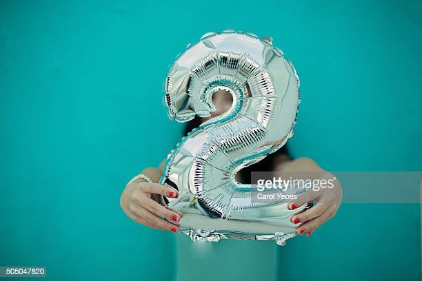 number 2 balloon - number 2 stock pictures, royalty-free photos & images