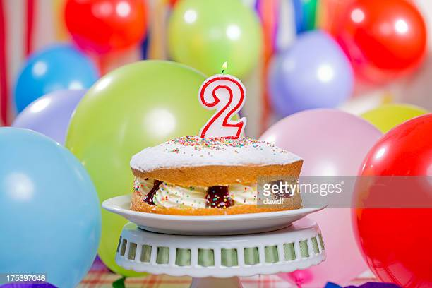 number 2 birthday cake - number 2 stock pictures, royalty-free photos & images
