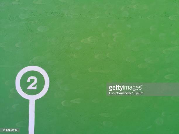 number 2 on green wall - number 2 stock pictures, royalty-free photos & images