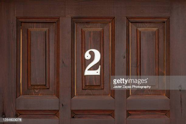 number 2 on house facade - number 2 stock pictures, royalty-free photos & images