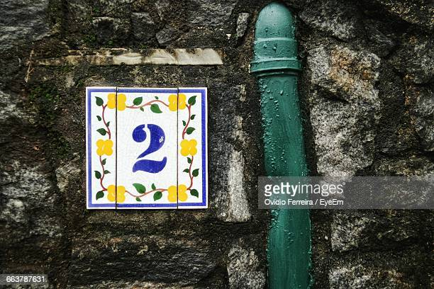 Number 2 Tile On Wall