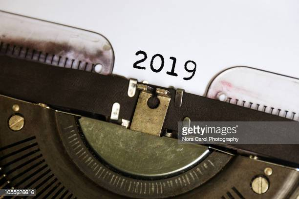 Number 2019 Typed on Vintage Typwriter