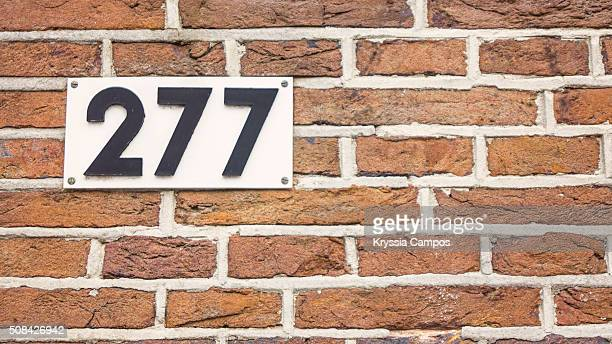 Number 277 in brick wall