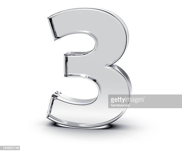number 3 - numbers stock photos and pictures