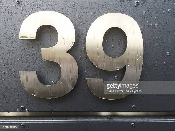 Number 39 On Metal Structure
