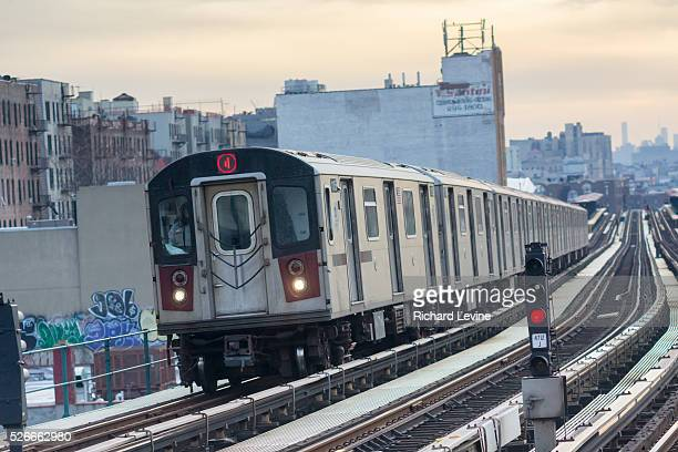 A Number 4 IRT elevated subway train in the Bronx in New York on Thursday January 7 2016