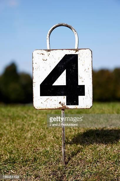 Number 4 sign