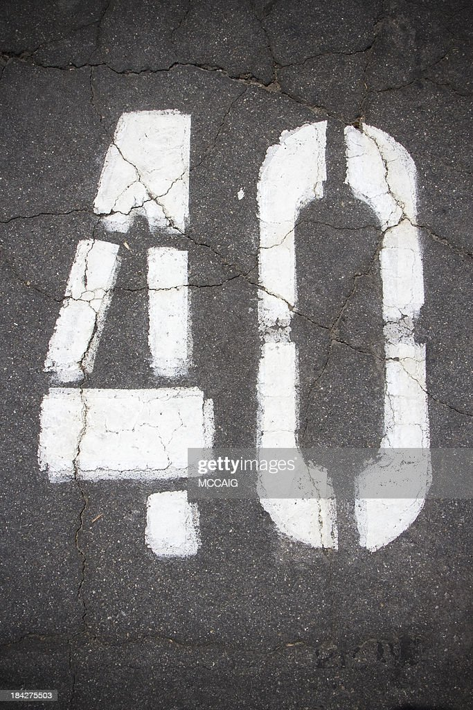 number 40 : Stock Photo