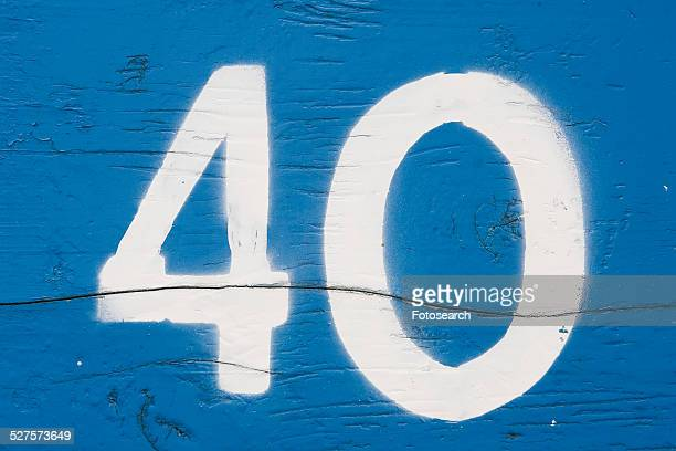 number 40 - number 40 stock photos and pictures