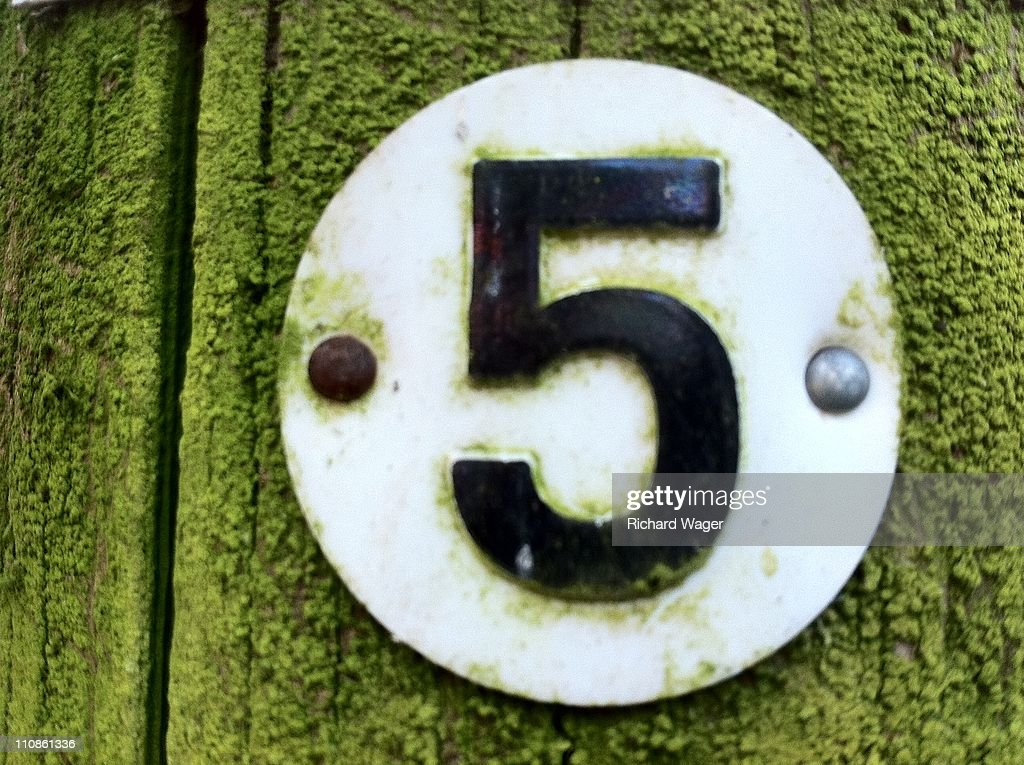 Number 5 : Stock Photo