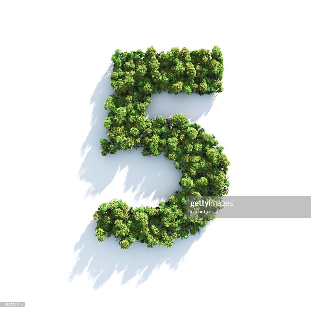 Number 5: Top View : Stock Photo