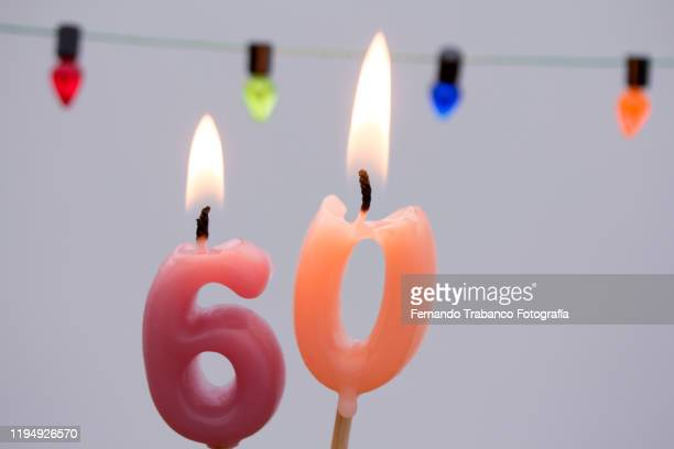 number 60 - birthday candle stock pictures, royalty-free photos & images
