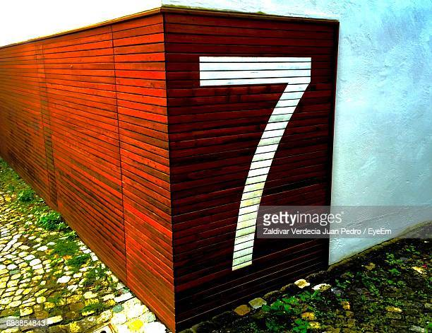 Number 7 On Wall Of Building