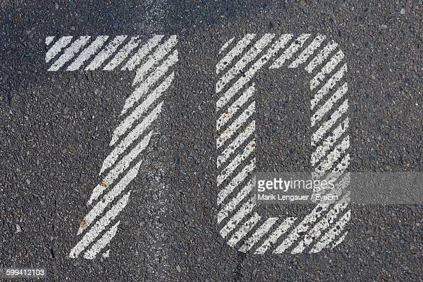 Number 70 On Road