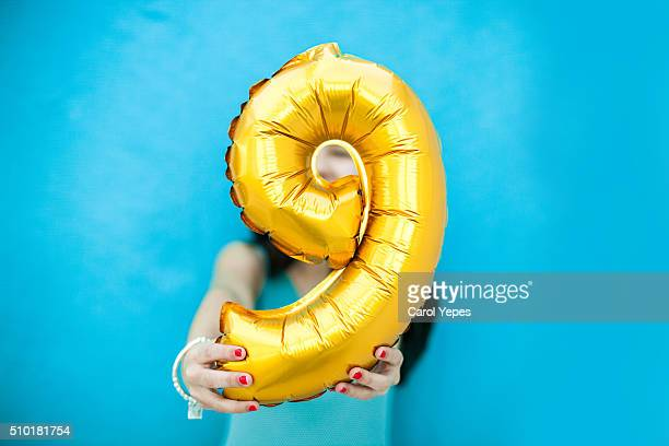 number 9 balloon - number 9 stock pictures, royalty-free photos & images