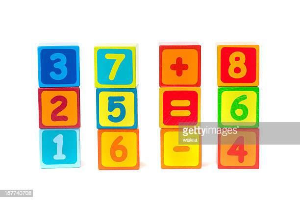 Número cubos-Würfel mit Zahlen