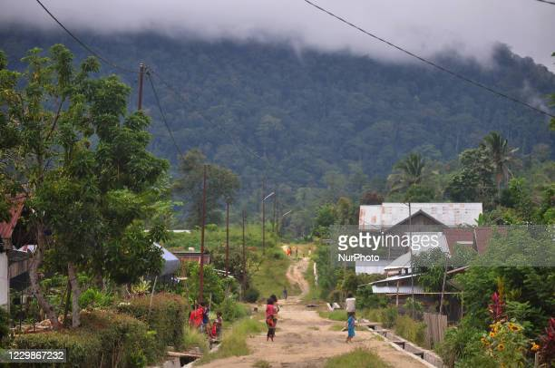 Number of children play around their village in Lemban Tongoa Village, Palolo Subdistrict, Sigi Regency, Central Sulawesi, Sunday, November 29, 2020....
