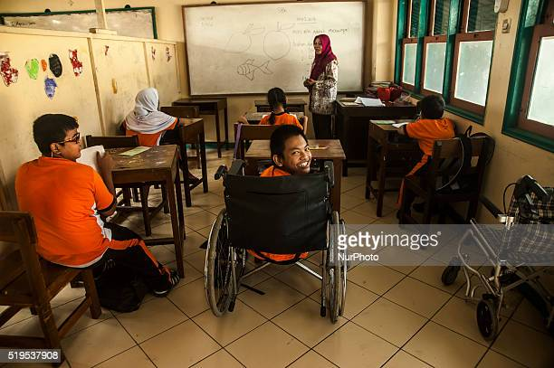 A number of student study in special school childern for physical disabilities in Special School PRI Pekalongan Central Java Indonesia on April 6...