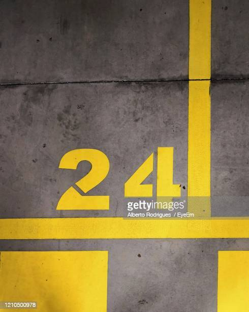number sign on road - number stock pictures, royalty-free photos & images
