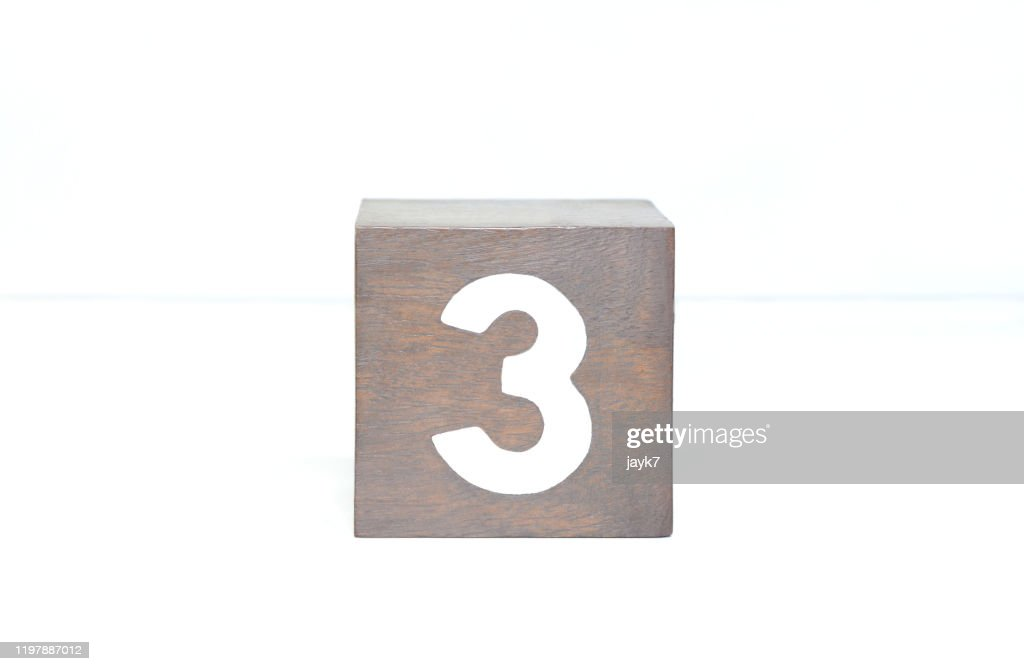 Number Three : Stock Photo
