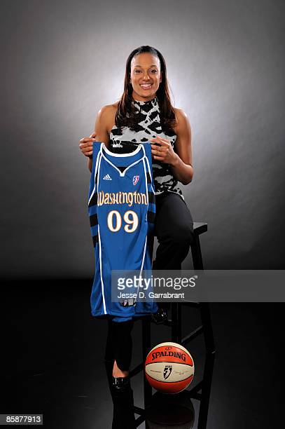 Number two overall pick Marissa Coleman of the Washington Mystics poses for a portrait during the 2009 WNBA Draft on April 9, 2009 in Secaucus, New...