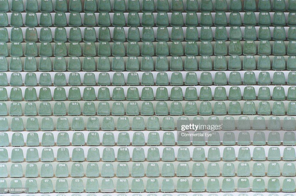Numbered Seats in Stadium : Stock Photo