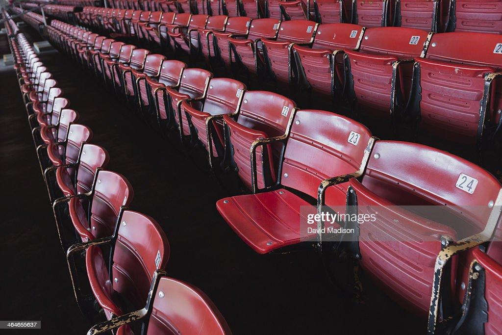 Numbered stadium seats : Stock Photo