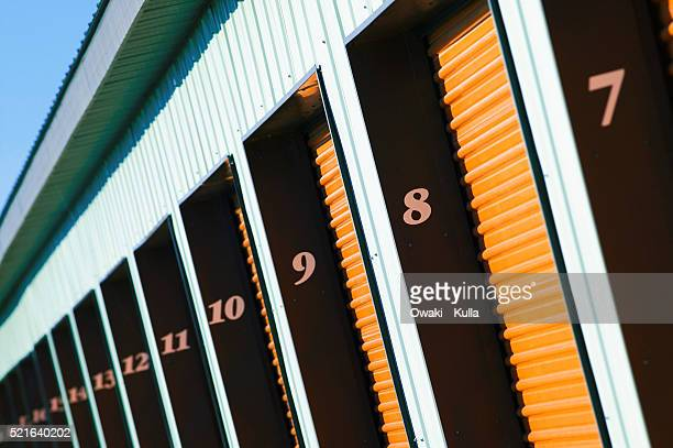 numbered storage doors - self storage stock pictures, royalty-free photos & images