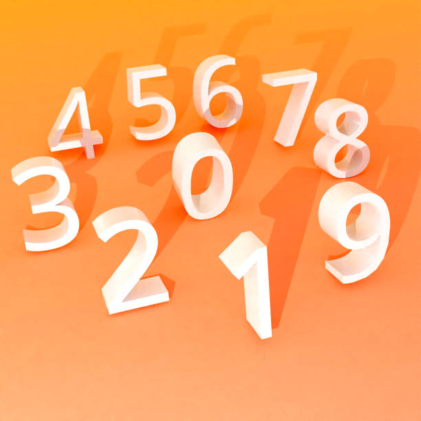 Numbers, 3D concept