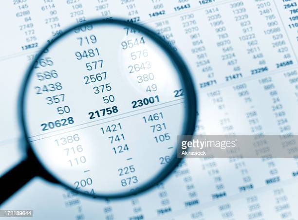 numbers magnified - financial figures stock pictures, royalty-free photos & images