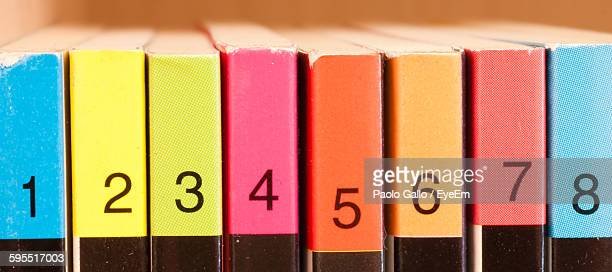 Numbers On Colorful Book