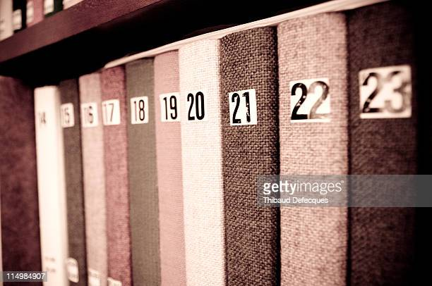 Numbers  on library book