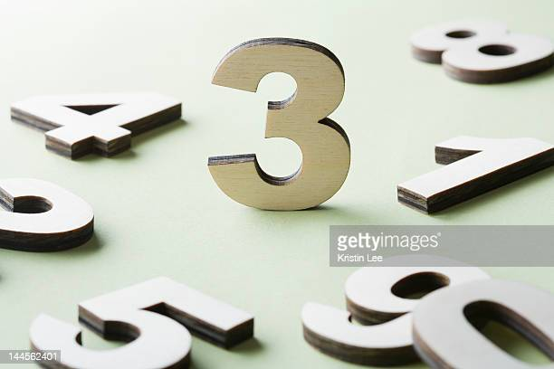 Numbers on white background, studio shot