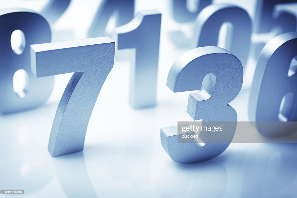 Numbers : Stock Photo
