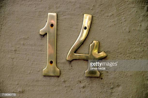 numbers - number 14 stock photos and pictures