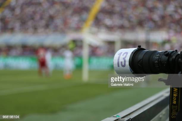 Numer in memory of Davide Astori during the serie A match between ACF Fiorentina and Cagliari Calcio at Stadio Artemio Franchi on May 13 2018 in...