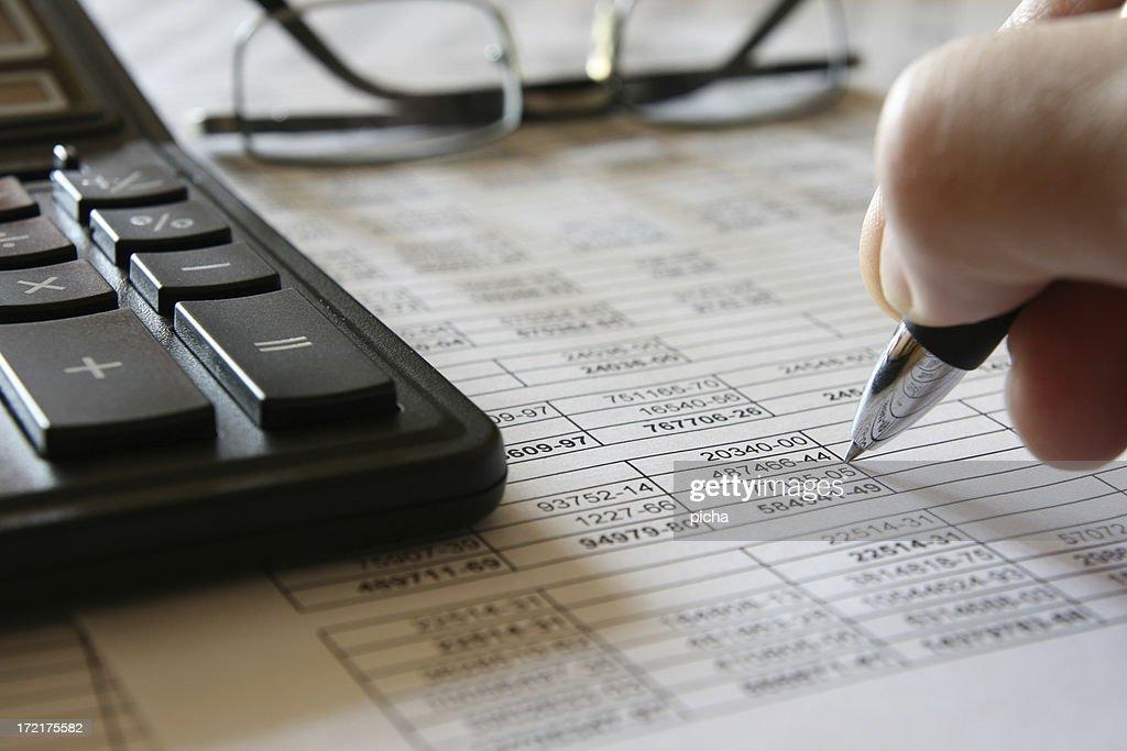 3 Ziffern und Finanzen : Stock-Foto