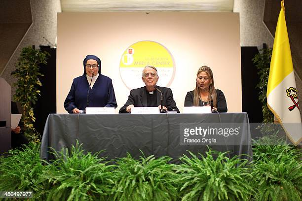Nun Adele Labianca cosister of nun Caterina Capitani who believed she had received a miracle from Pope John XXIII Vatican spokesman father Federico...