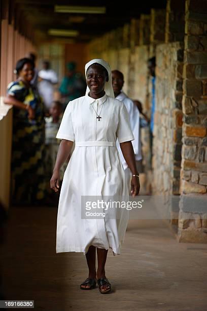 Nun in Dzogbegan benedictine abbey