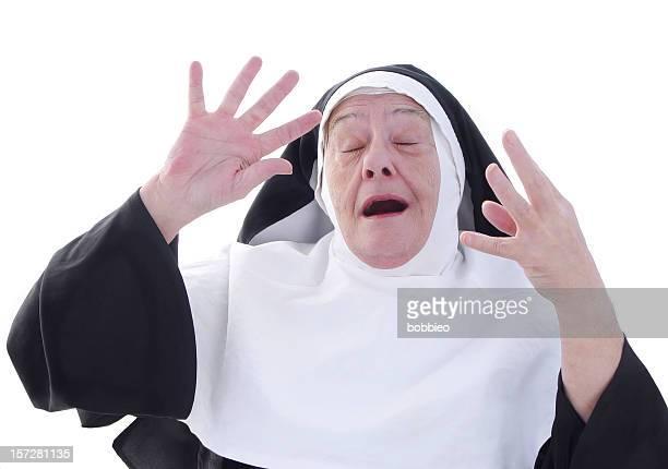 nun series - choir practice - nun stock photos and pictures