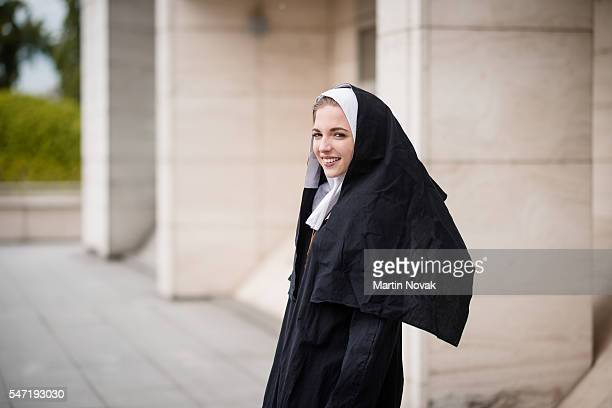 Nun street portrait
