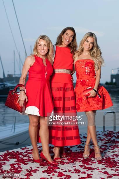 Nuni Hausbacher Fiona Swarovski and Sylvie Meis attend the wedding of Victoria Swarovski and Werner Muerz on June 15 2017 in Trieste Italy
