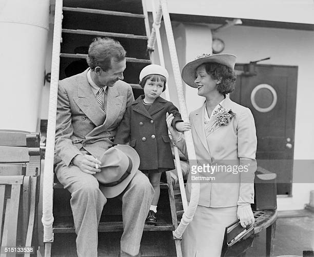 Nunnally Johnson prominent humorist short story writer newspaper columnist and now a screenwriter is pictured with his wife and daughter Nora as they...