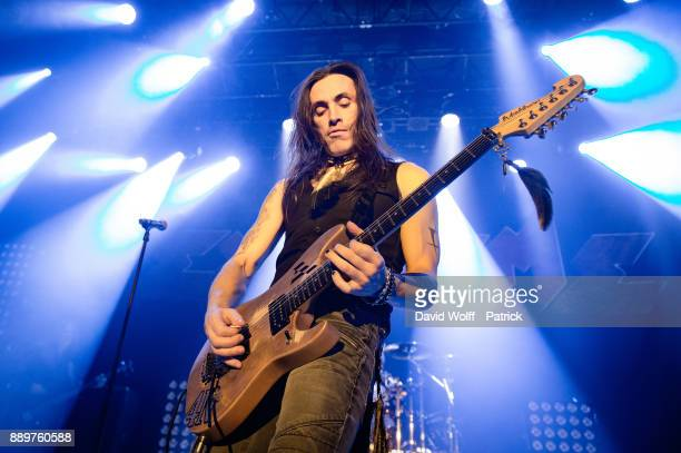 Nuno Bettencourt from Extreme performs at Le Bataclan on December 10 2017 in Paris France