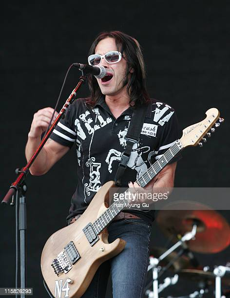 Nuno Bettencourt Of Dramagods during 2006 Incheon Pentaport Rock Festival Day 3 at Song Do Dae Woo Motors Field in Incheon South South Korea