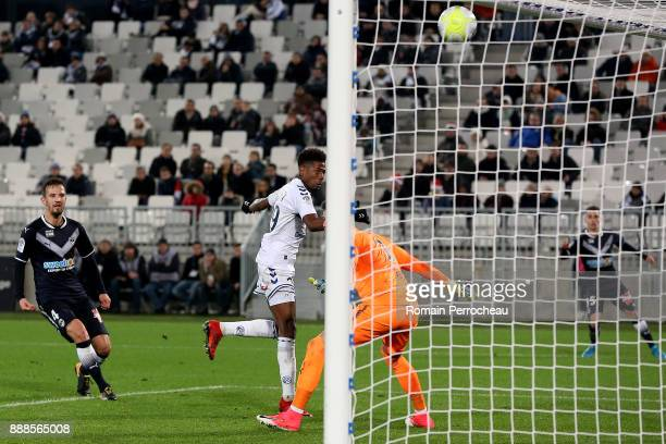 Nuno Da Costa Joia of Strasbourg in action during the Ligue 1 match between FC Girondins de Bordeaux and Strasbourg at Stade Matmut Atlantique on...