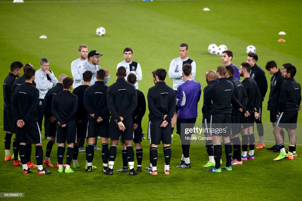 Nuno Espirito Santo, head coach of FC Porto, speaks during the FC Porto training on the eve of the UEFA Champions League football match between Juventus FC and FC Porto.