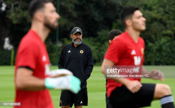 Raul Jimenez new Loan signing at Sir Jack Hayward Training Ground on July 18 2018 in Wolverhampton England