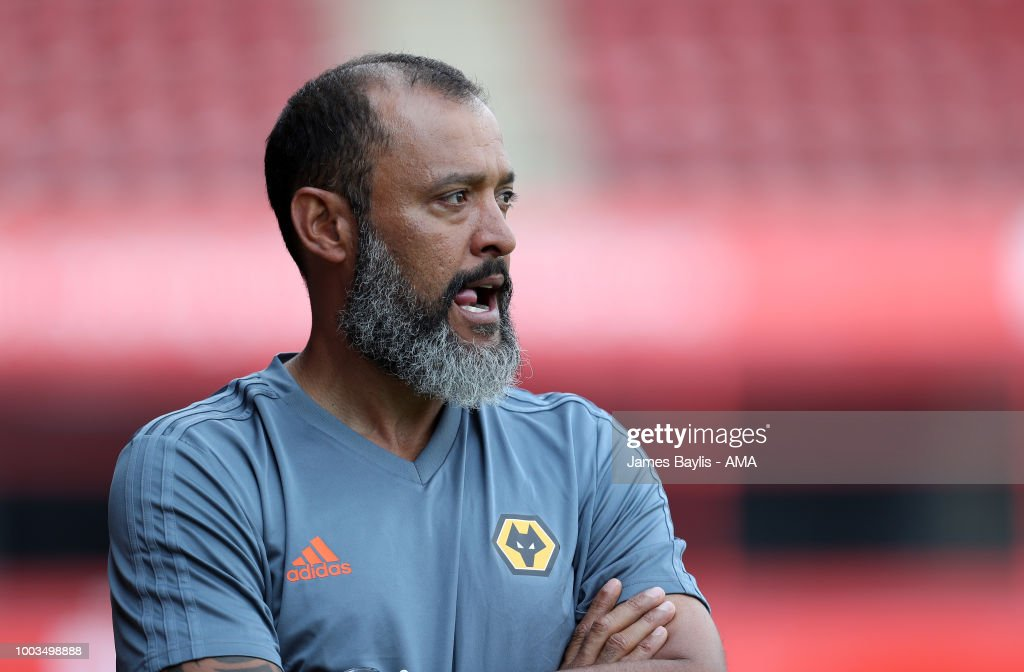 Nuno Espirito Santo manager / head coach of Wolverhampton Wanderers during the Pre Season Friendly between Wolverhampton Wanderers and Ajax at Banks' Stadium on July 19, 2018 in Walsall, England.
